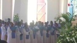 Ayiti: Selebrasyon Fèt Lasanmsyon nan Katedral Pòtoprens la