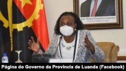 Joana Lina, governadora da província de Luanda, Angola