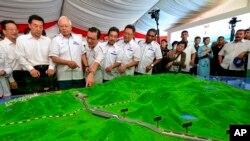 中国在马来西亚的铁路工程搁浅 (美联社)