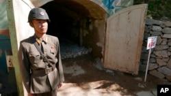 被炸毁之前的朝鲜丰溪里核试验场
