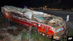 اسکول بس حادثے میں ہلاکتوں کی تعداد 34