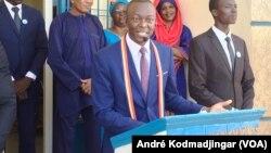 Dr Succès Masra, président du parti les transformateurs, 9 décembre 2019. (VOA/André Kodmadjingar).