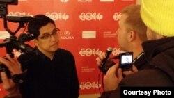 """Muhammad 'Kimo' Stamboel di acara Red Carpet film """"Killers"""" (Dok: Vena Annisa)"""