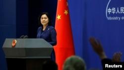 Çin Xarici İşlər Nazirliyinin sözçüsü Hua Çunyin