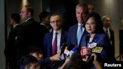 지난 7월 뉴욕에서 차이잉원 타이완 총통이 참석한 가운데 미국-타이완 기업 대표 회의가 열렸다. (자료사진)