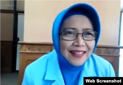 Wakil Bupati Kabupaten Sleman, DI Yogyakarta, Sri Muslimatun. (Foto: screenshot)
