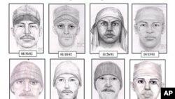 """El FBI divulgó estos dibujos de supuestamente muestran cómo luciría el verdadero autor de las violaciones conocido como """"el violador de la lágrima"""" y quien se enuentra prófugo."""