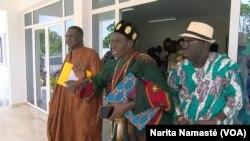 Les membres du directoires ivoiriens, à Yamoussoukro, en Côte d'Ivoire, le 11 octobre 2017. (VOA/Narita Namasté)