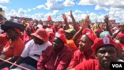 MDC-T supporters attending a rally at White City Stadium in Bulawayo.