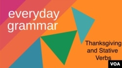 Everyday Grammar - Thanksgiving and stative verbs