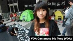 留守政府總部的前港視員工阿焦表示,希望各界反思香港自由、法治的核心價值