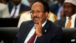 Sabon shugaban kasar Somalia Mohamed Abdullahi Mohamed.