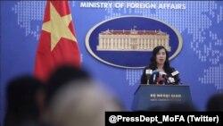 Người phát ngôn Bộ Ngoại giao Lê Thị Thu Hằng nói Việt Nam 'hoan nghênh' Hội nghị thượng đỉnh Triều Tiên-Hoa Kỳ vừa được tổ chức tại Singapore hôm 12/6. (Twitter MoFAVietNam Spokesperson)
