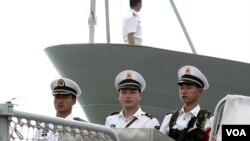 Pasukan angkatan Laut Tiongkok mengaku melakukan latihan militer rutin di Laut Cina selatan.