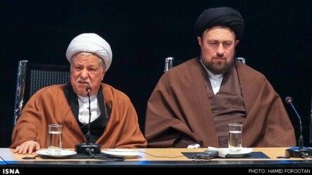 سید حسن خمینی در کنار اکبر هاشمی رفسنجانی