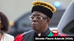 Theodore Holo, président de la cour constitutionnelle du Bénin, à Cotonou, le 7 février 2018. (VOA/Ginette Fleure Adandé)