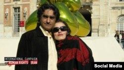 کارن وفاداری، شهروند زرتشتی ایرانی آمریکایی به همراه همسرش