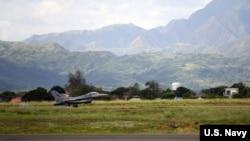 部署在韩国昆山空军基地的美国空军F-16猎鹰战斗机(资料图)