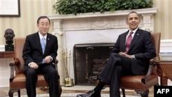Presidenti Obama dhe Sekretari i Përgjithshëm i OKB-së bisedojnë rreth Libisë