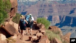 FILE - The South Kaibab Trail in Grand Canyon National Park, Arizona.