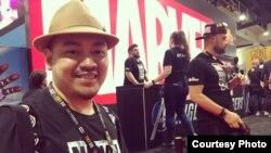 Ario Anindito saat berada di booth Marvel di San Diego Comic-Con 2019 (dok: Ario Anindito)
