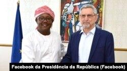 Presidente guineense, Úmaro Sissoco Embaló, e seu homólogo de Cabo Verde, Jorge Carlos Fonseca (Arquivo)