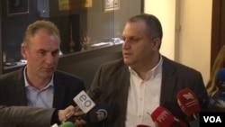 Predsedavajući državne delegacije Kosova za dijalog sa Srbijom Fatmir Ljimaj i Špend Ahmeti