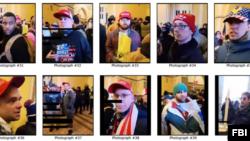 联邦调查局公布冲击国会的骚乱者的照片。