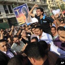 埃及科普特基督徒周日在开罗市中心举行示威