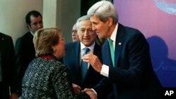 El secretario de Estado, John Kerry, llevó a chile los documentos clasificados sobre la muerte del excanciller y exembajador de Chile asesinado en Washington.