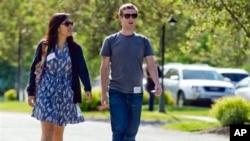 Facebook təsisçsi Mark Zukerberq və onun həyat yoldaşı Prisilla Çan