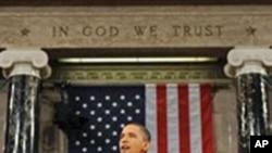 奥巴马总统去年在国会发表国情咨文演讲(资料照片)