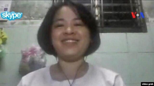 VOA phỏng vấn nhà hoạt động công đoàn trẻ Đỗ thị Minh Hạnh qua Skype