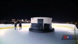 У готелі в столиці США відкрилася ковзанка на даху з неймовірним виглядом на Вашингтон. Відео