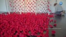 Pandemide Yaşamını Yitirenlere Kırmızı Güllerle Anma