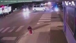 Xe cảnh sát tông nhau ở Chicago