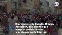 """Biden: """"Estados Unidos hace un llamado al régimen cubano para que escuche a su pueblo"""""""