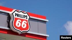 菲利普斯66石油公司的標誌。 (資料照片)