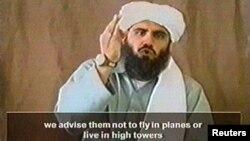 Imagen de Sulaimán Abú Ghaith tomada de un video de 2002 podría ser sentenciado a cadena perpetua el próximo 8 de septiembre.
