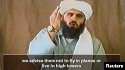 Imagen de Suleiman Abu Ghaith tomada de un video de 2002.