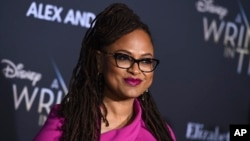 "Ava DuVernay arrives at the world premiere of ""A Wrinkle in Time"" at the El Capitan Theatre in Los Angeles, Feb. 26, 2018."