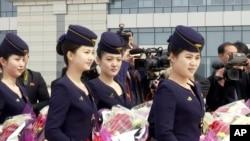 资料照 - 朝鲜高丽航空公司开始2017年3月28号平壤至丹东包机航线。