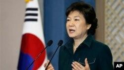 Presiden Korsel Park Geun-hye mengatakan Seoul akan menanggapi tegas provokasi Korea Utara (foto: dok).