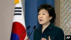 Presiden Korea Selatan Park Geun-hye memerintahkan agar para pejabat Kementerian Pertahanannya segera membalas dengan tegas provokasi dari Korea Utara (Foto: dok).