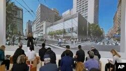 Enormes puertas corredizas de vidrio permitirán a los clientes salir hacia la principal avenida comercial de San Francisco.
