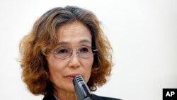 後藤健二的母親石堂順子懇求安倍首相救她兒子的性命