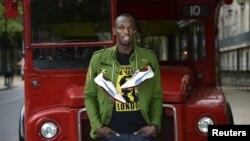 Usain Bolt, ya preparado para competir en Londres.