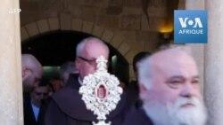 Retour à Bethléem d'un fragment du berceau de Jésus