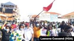 Marcha trabalhadores Guiné-Bissau