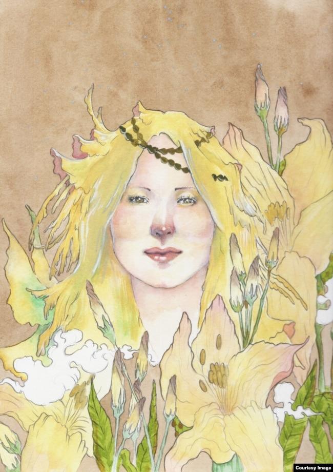 Ilustrasi potret wajah Jewel karya Atreyu Moniaga (dok: Atreyu Moniaga)